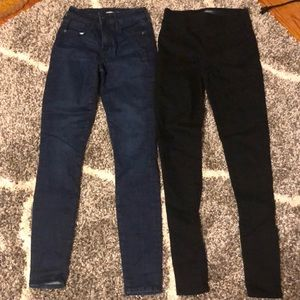 NEW Old Navy Womens Size 2 Tall Black Blue Jeans